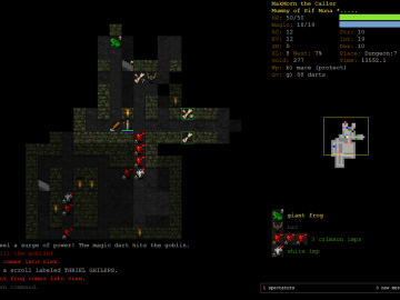 Dungeon Crawl Stone Soup free and open source roguelike pc game