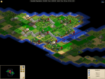 FreeCiv Free Turn Based Strategy Games Civilization II Clone