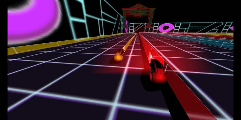 GLTron a game based on the light cycle portion of the film Tron.1