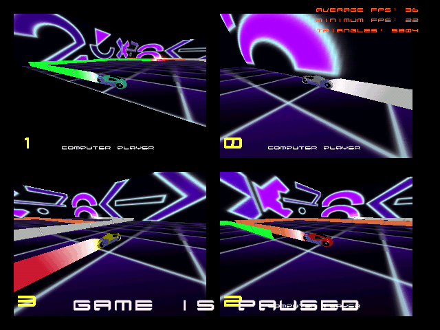 GLTron - a game based on the light cycle portion of the film Tron