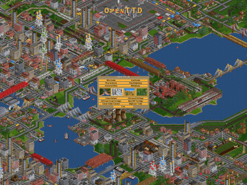 OpenTTD another transportation business simulation game clone of Transport Tycoon Duluxe1