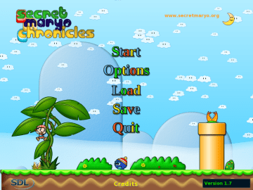 Secret Maryo Chronicles Free 2D platform Game clone of Super Mario Bros2