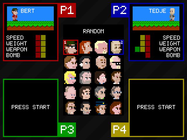 Smash Battle - a Free Retro 8-bit style platform shooter PC Game