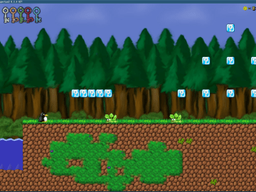 SuperTux Free Open Source 2D Platformer Game just like super mario bros 1