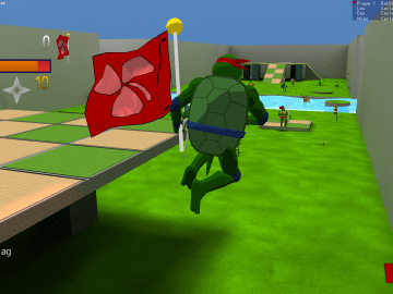 Turtle Arena a Free Open Source TPS action game based on TMNT2