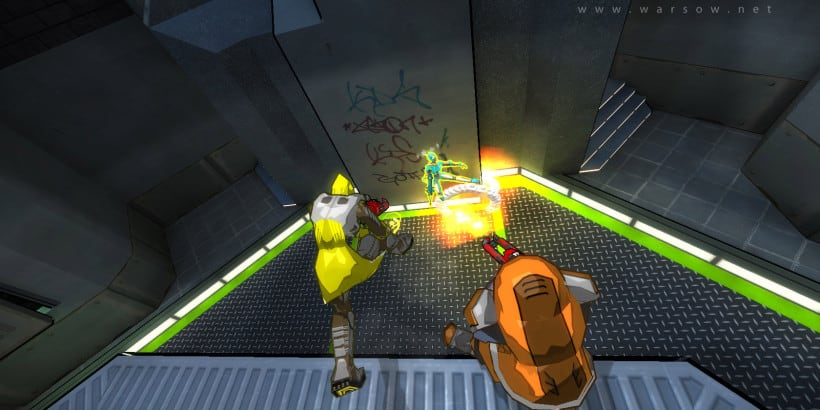 Warsow a Free FPS Game with Cartoonish Graphics and Parkour2