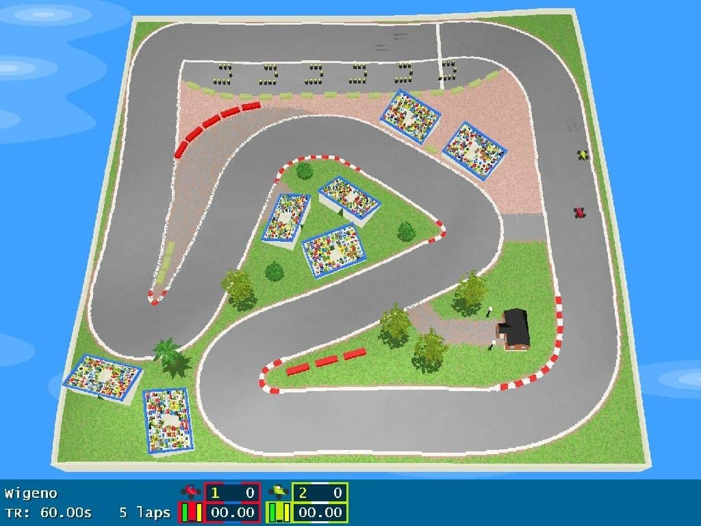 GeneRally - an arcade-style top-down racing game