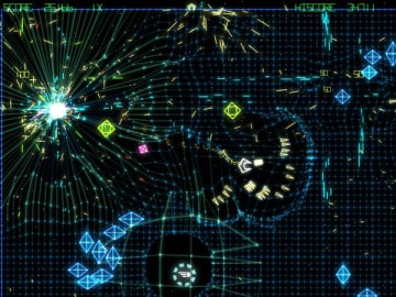 Grid Wars a Free Arcade Shooter Game free version of Geometry Wars 2