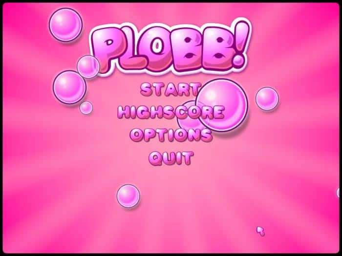 Plobb! - a fast single player 2D arcade shooter game