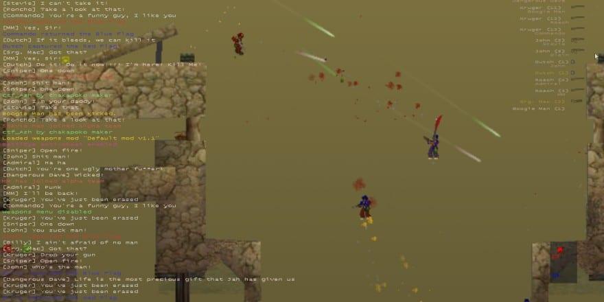 Soldat a unique 2D side view multiplayer action game 2